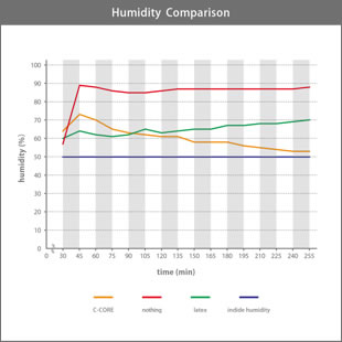 C-CORE's Humidity Comparison graf